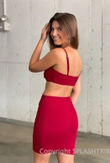 Simone Rib Cutout Mini Dress