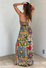 Moroccan Halter Maxi Dress