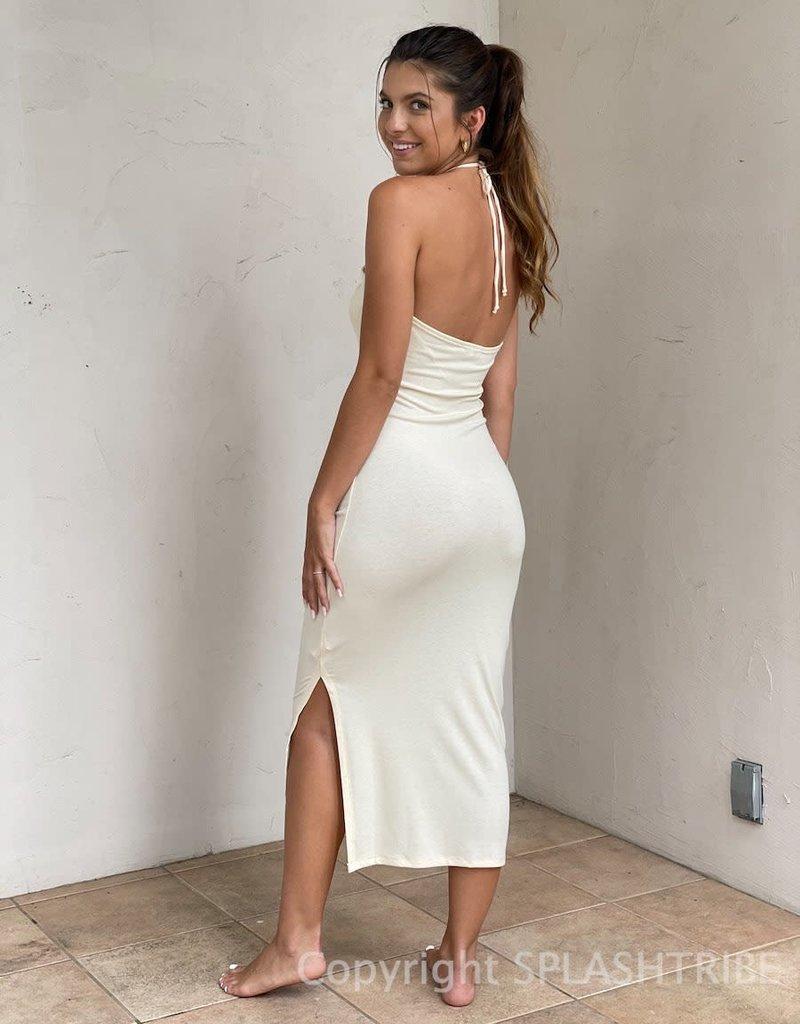 Bungalow Cutout Halter Midi Dress