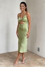 Whitney Twist Front Midi Dress