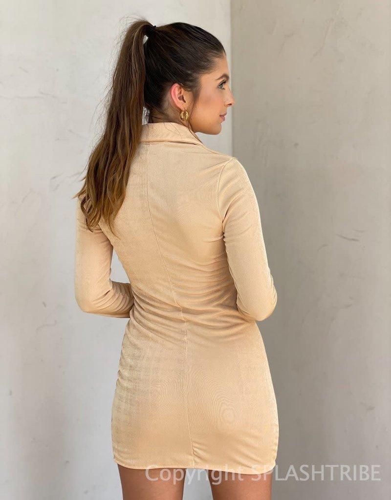 Jensen Shimmer Long Sleeve Dress