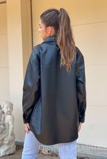 Vegan Leather Shacket