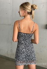 Lace Trim Mesh Mini Dress