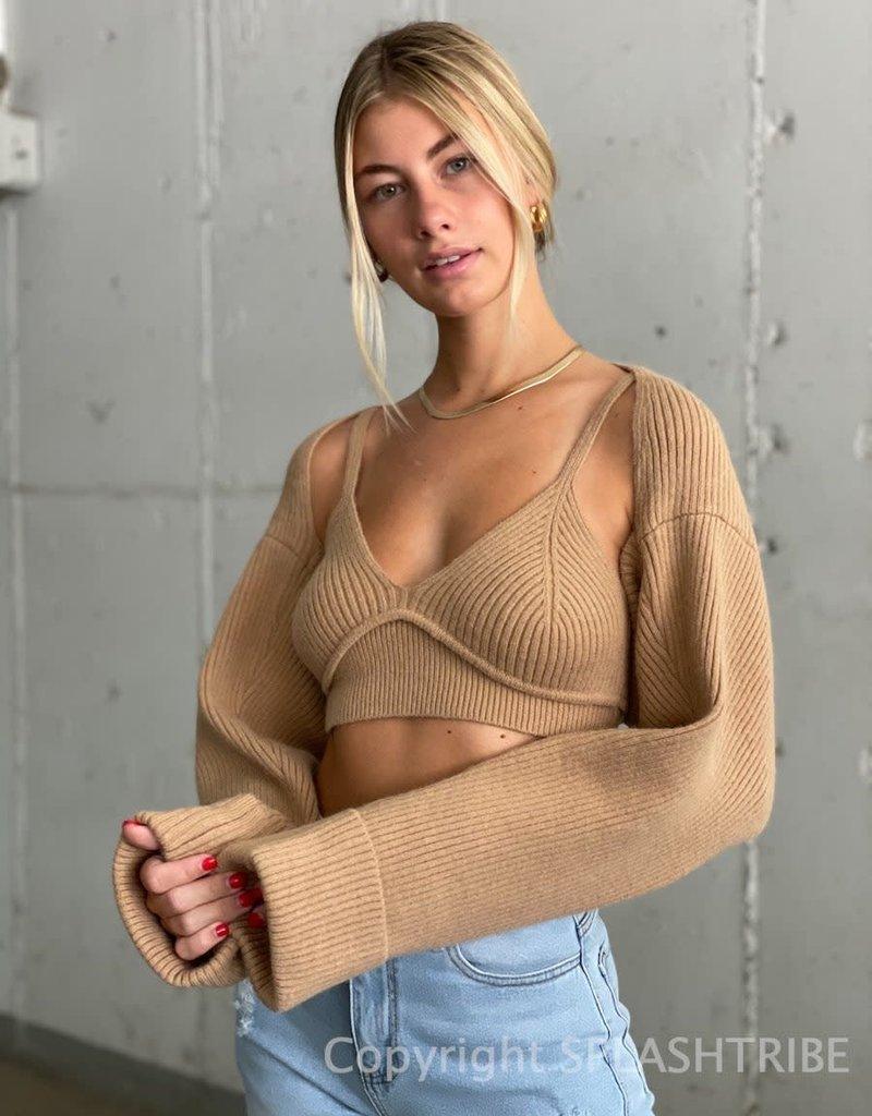 Knit Bra and Shrug Set
