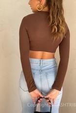 Soft Rib Long Sleeve Crop Top