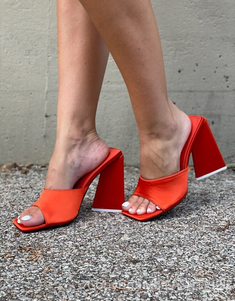 Levitating Satin Block Heels