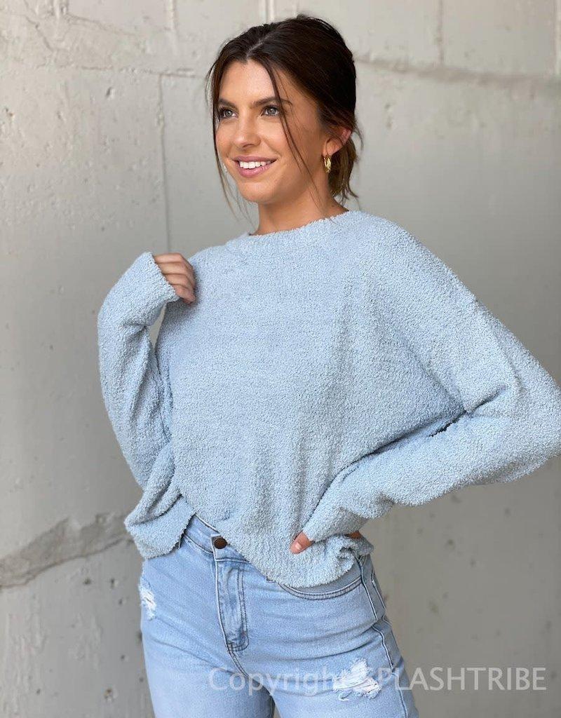 Fuzzy Crewneck Sweater