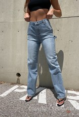 FEZ High Rise Utility Straight Leg Jeans