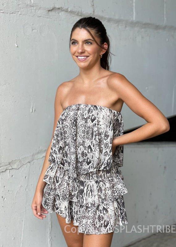 Tube Top Romper Mini Dress
