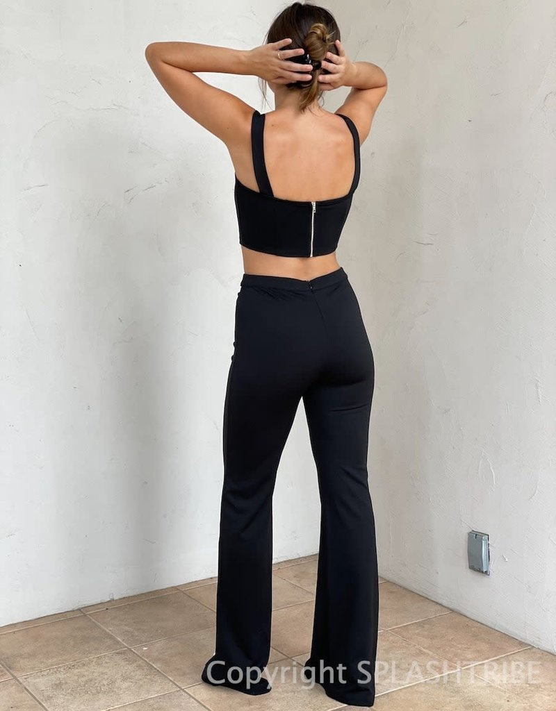 Sheena Cutout Waist Pants