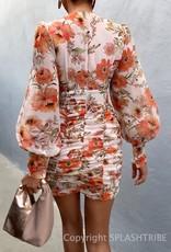 Grand Orange Mini Dress