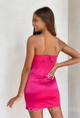Mills Satin Strapless Mini Dress