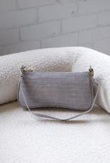 Billini Riana Shoulder Bag Grey Croc