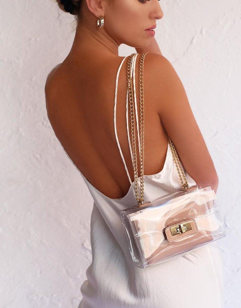 Colette Shoulder Bag Nude Patent