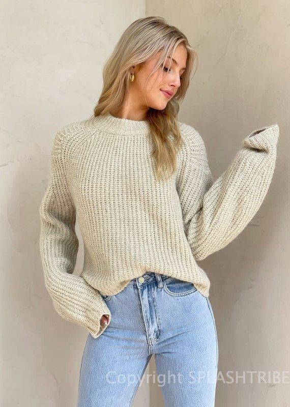 Chunky Knit Mock Neck Sweater