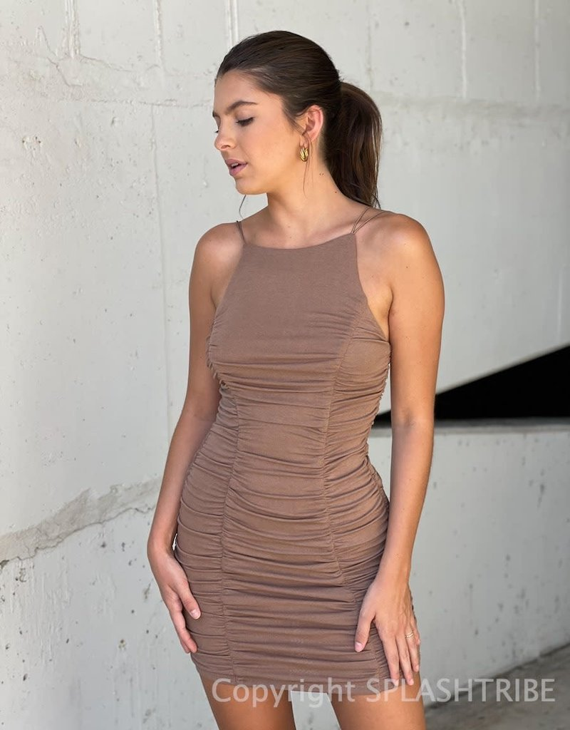 Lara Knit Ruched Mini Dress