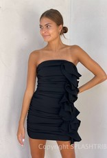 Tiffany Strapless Ruffle Mini Dress