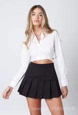 Button Up Long SLeeve Wrap Crop Top