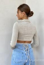 Hailie Shimmer Underwire Wrap Crop Top
