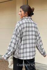 Liam Plaid Fringe Jacket