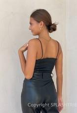 Vegan Leather Cami Bustier Top