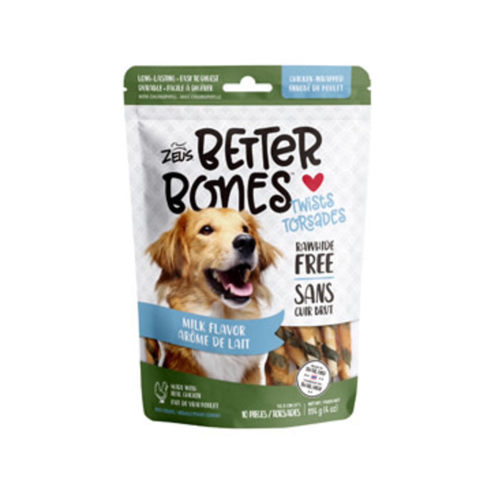 Zeus Better Bones Milk Bones Chicken Wrapped Twist  12.5cm 10pk