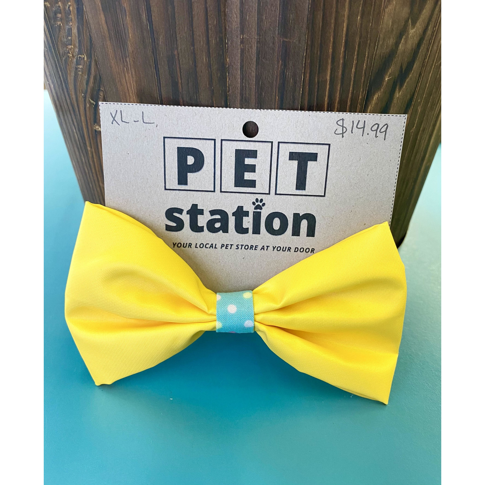 Hand Mades By Mom Yellow Waterproof Bow Tie L-XL