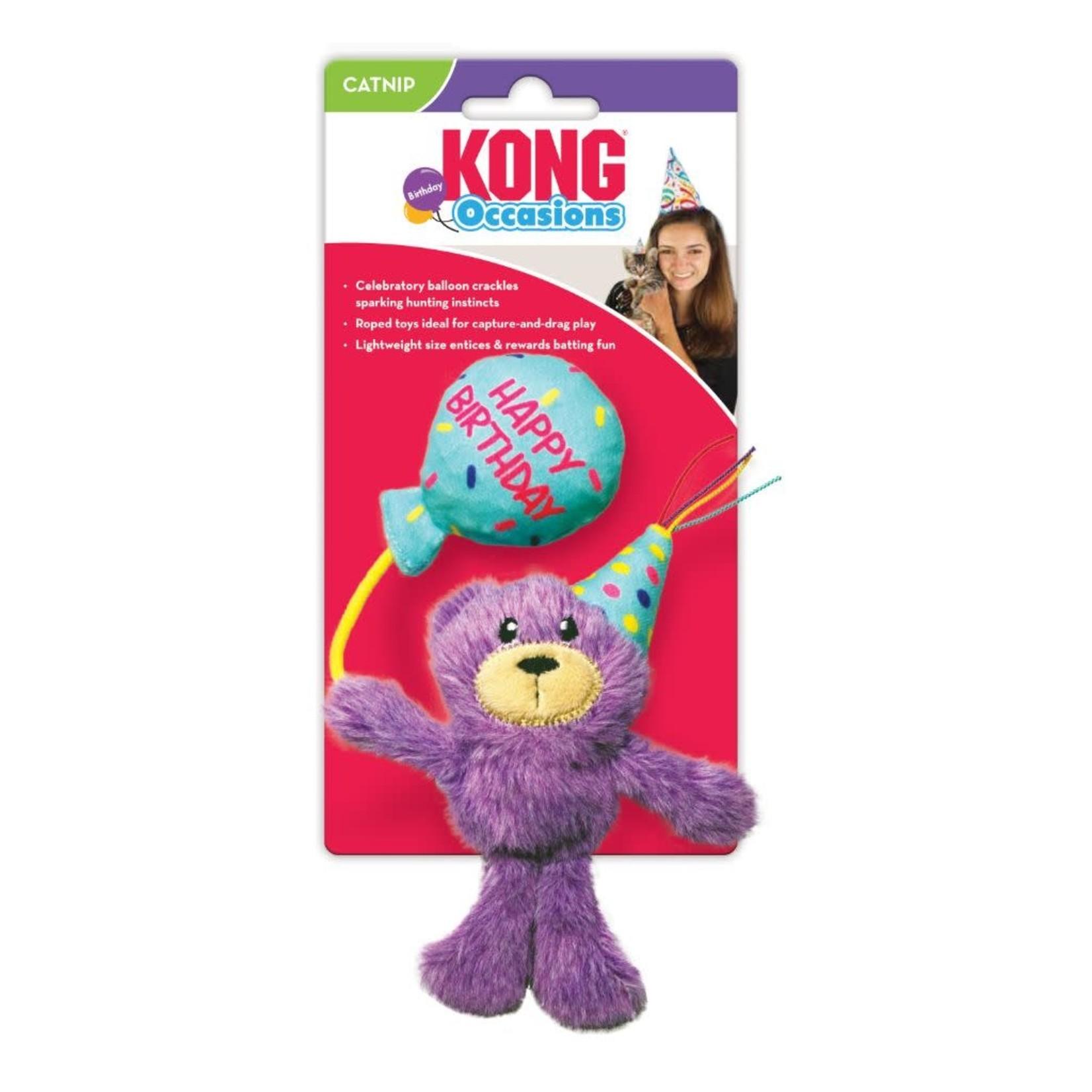Kong Kong Birthday Teddy Cat Toy