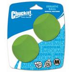 Chuckit Chuckit! Erratic Ball Medium 2Pk Dog Toy M