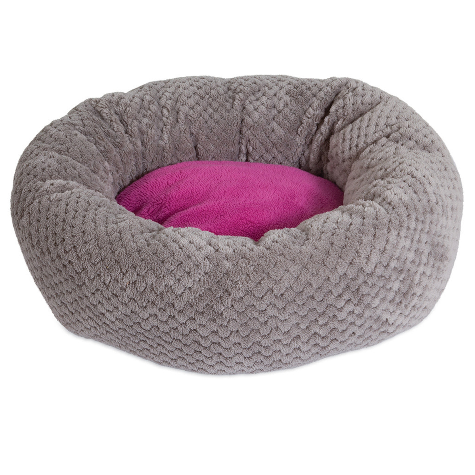 Donut Cat Bed Gray & Pink
