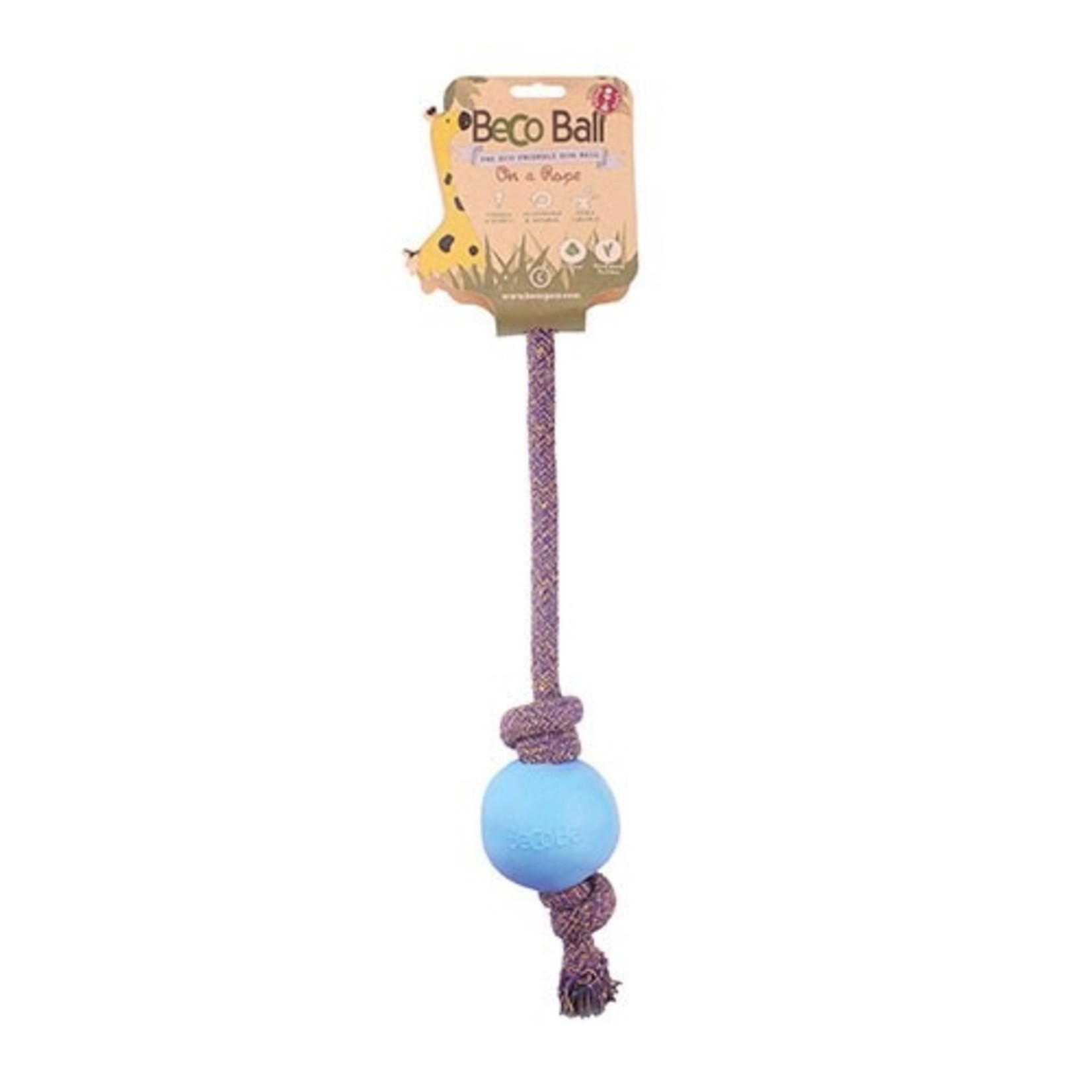 Beco Pets Beco Ball on a Rope Dog Toy