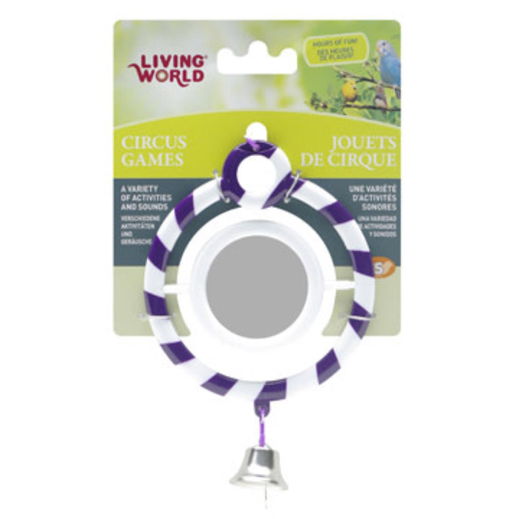 Living World Round Purple Toy with Mirror
