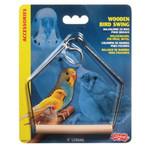 Living World Wooden Bird Swing 10 cm