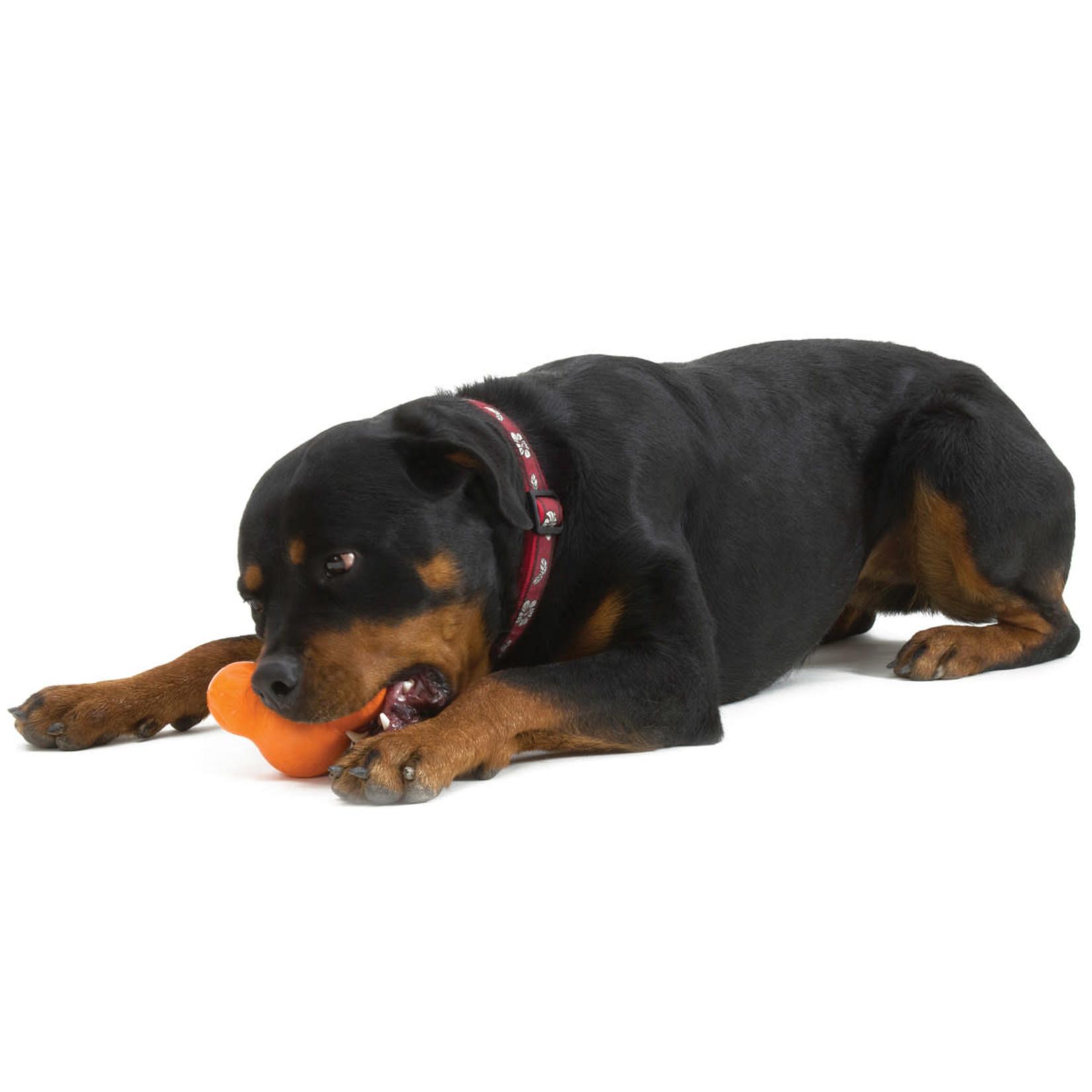 """West Paw Tux Large 5"""" - orange dog toy"""