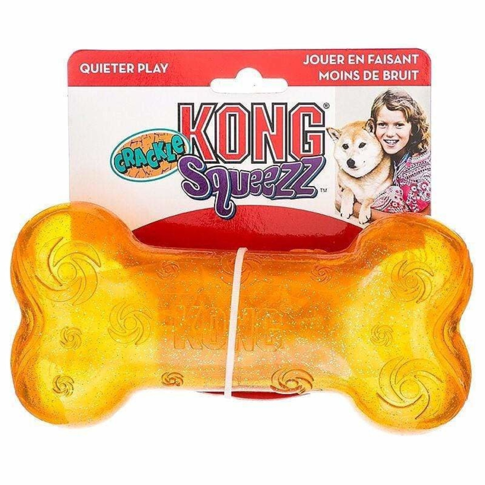 Kong Kong Squeezz Crackle Orange Large