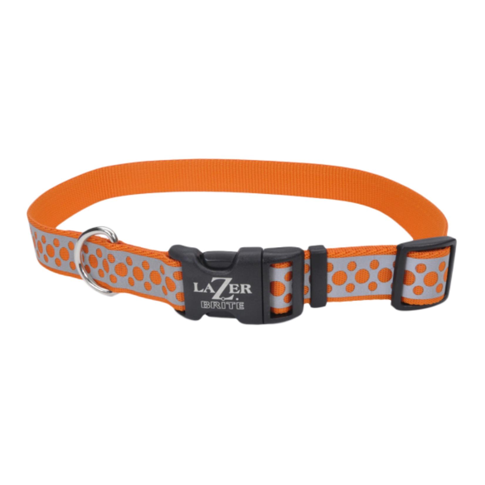 """Reflective Org Dots Dog Collar L 18""""-26"""""""
