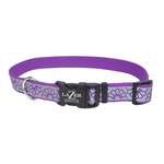 "Coastal Reflective Purple Daisy Collar 18""-26"""