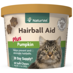 Soft Chew Hairball Aid Plus Pumpkin 60CT For Cats