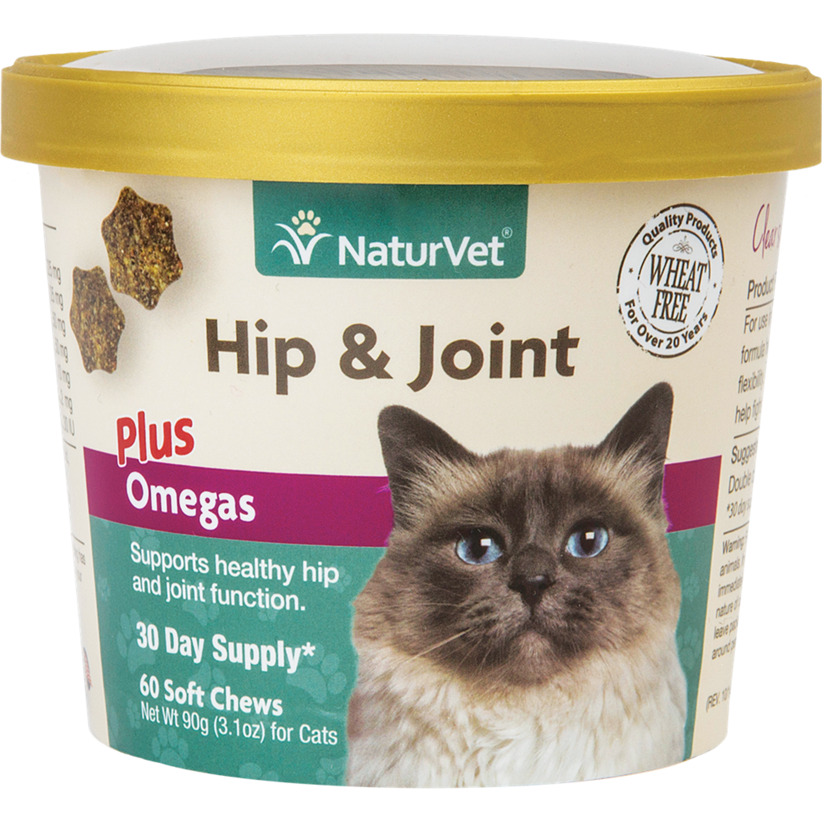 Soft Chew Hip + Joint plus  Omegas 60CT For Cats