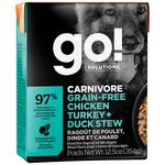 Go! Go! Dog Can Carnivore chicken & turkey & duck stew grain free 354 g