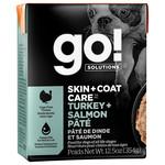 Go! Go! Dog Can Skin +coat care turkey & salmon pate 354g