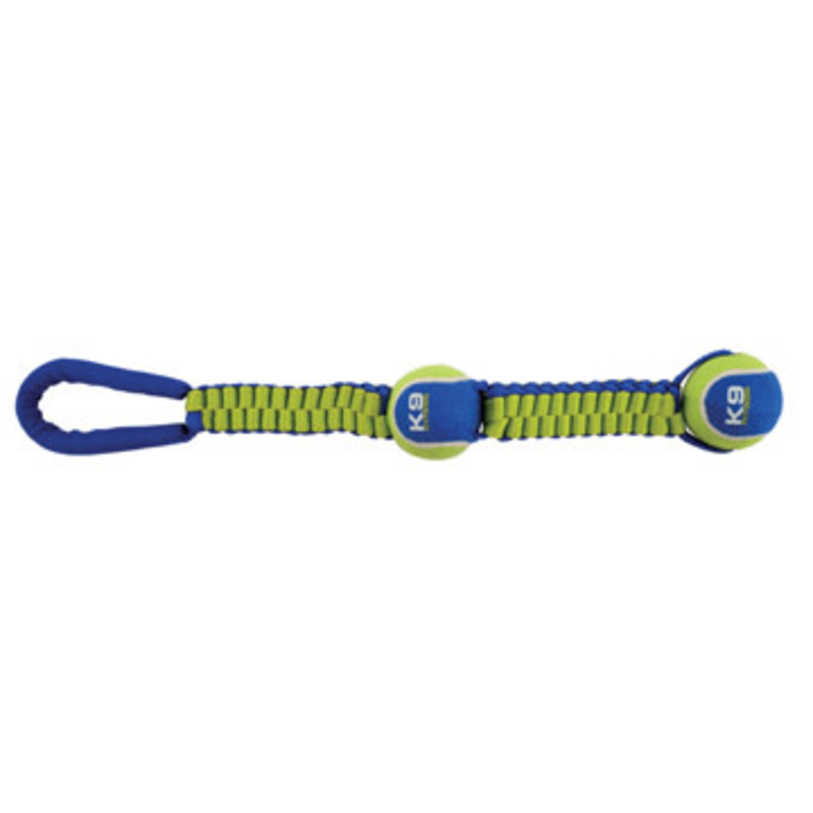 Zeus K9 Fitness Dog Tug Toy Double Tennis Ball