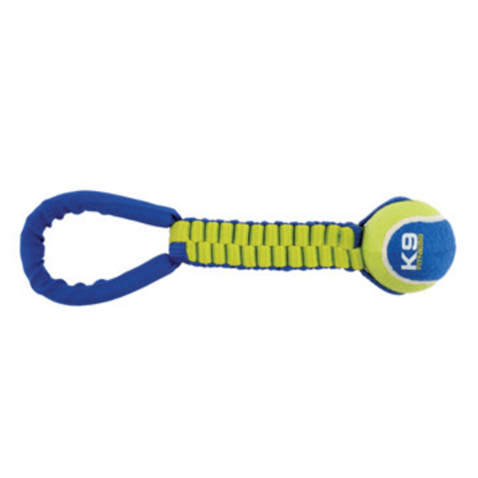Zeus K9 Fitness Dog Tug Toy Twisted Rope + Tennis Ball