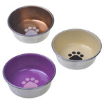 Stainless Steel Decorated Cat Bowl 8Oz