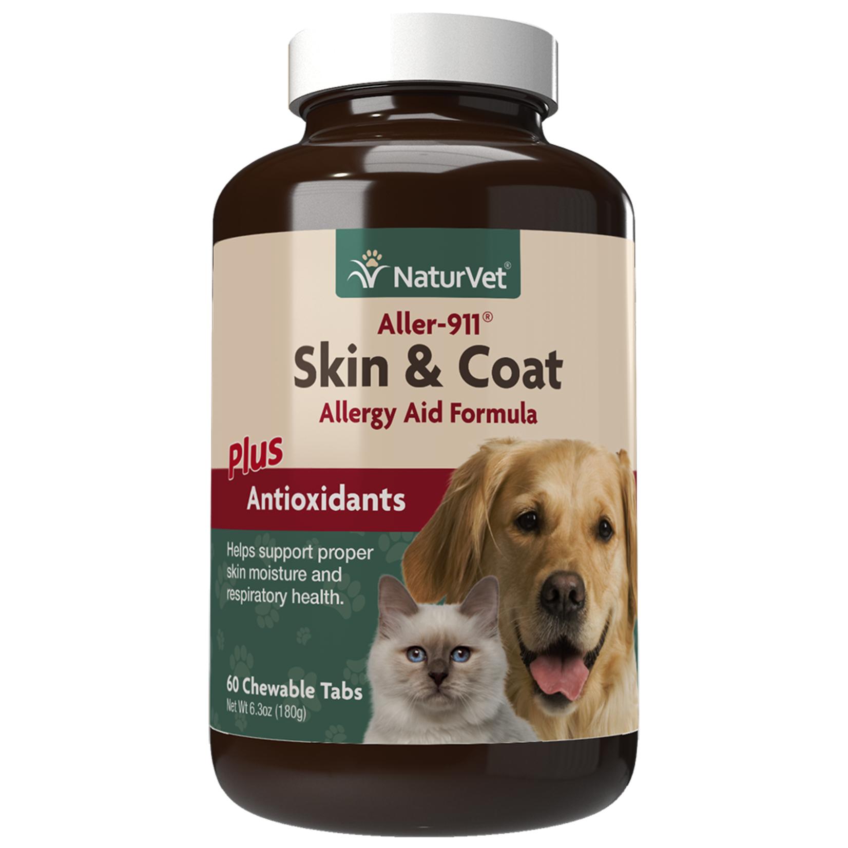 Naturvet  Skin & Coat (Allergies) Tabs 60CT