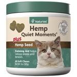 NaturVet Soft Chew Hemp Quite Moments 60 ct for cats
