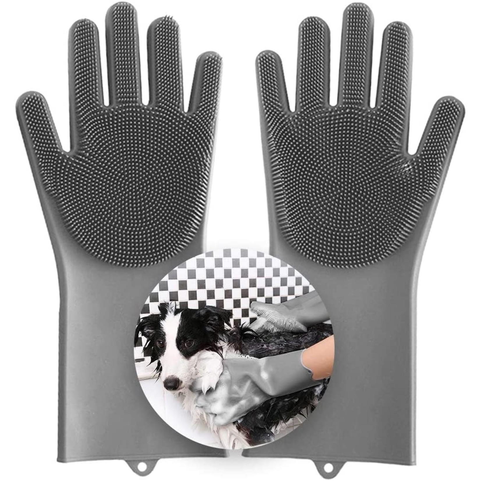 Magic Pet Grooming & bathing Gloves