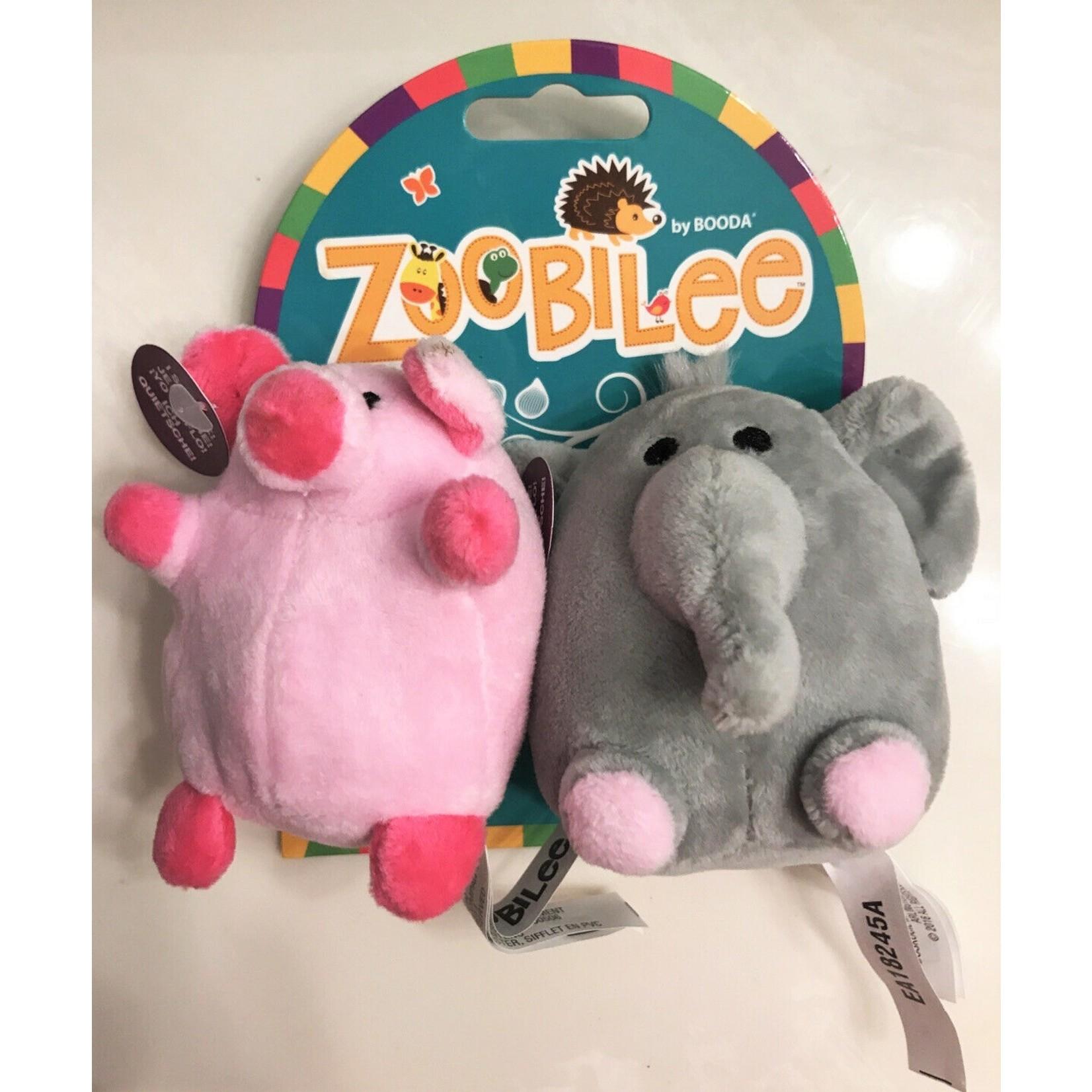 Plush Elephant & Pig Mini Puppy toy