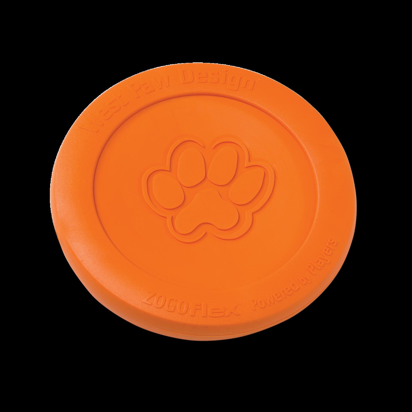 "West Paw Zisc Small 6.5"" - orange dog toy"