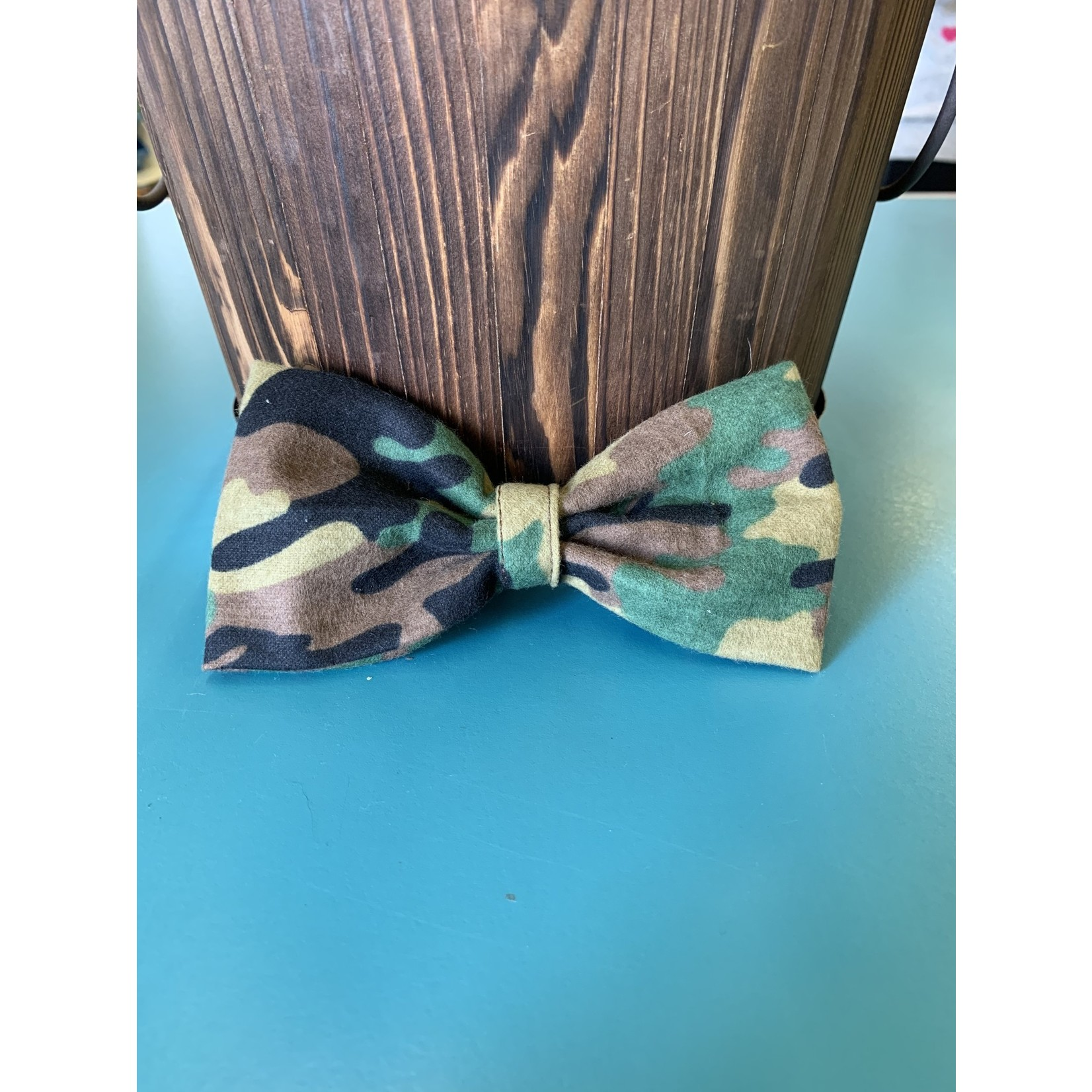 Hand Mades By Mom Camo Bow Tie L-XL